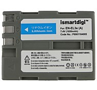 Ismartdigi EL3E 7.4V 1650mAh Camera Battery for Nikon EN-EL3E D300S D80 D300 D90 D700 D200 D50
