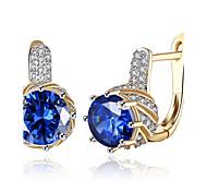 Women's Hoop Earrings Clip Earrings Synthetic Diamond AAA Cubic Zirconia Basic Tassel Gothic Simple Style Classic Fashion Vintage