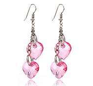 cheap -Women's Heart Drop Earrings - Personalized / Dangling Style / Pendant Pink+White Earrings For Wedding / Party / Special Occasion