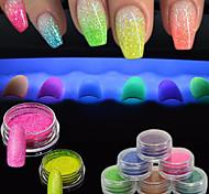 abordables -Polvo Suministros DIY Flash 3D Chicas y Mujeres Jóvenes Clásico Alta calidad Diario Nail Art Design