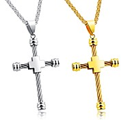 Fashionable personality jewelry titanium steel strong-weight lifting gold han edition men's pendant