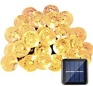 Недорогие -hkv® солнечные лампы 6m 30led водонепроницаемая фея открытый сад вечеринка украшение строка свет
