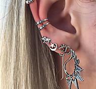 cheap -Women's Bohemian Elephant / Star / Number Stud Earrings - Vintage / Bohemian / Fashion Gold / Silver Earrings For Daily / Casual /