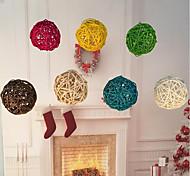 Недорогие -20pcs / pack 3cm день рождения декор свадебное украшение ротанг мяч декор домашний орнамент домашнее украшение