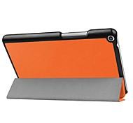 Caja de cuero de la PU del patrón del color sólido con el soporte para el mediapad t3 8.0 de huawei