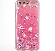 Недорогие -Чехол для huawei p10 p10 plus чехол чехол фламинго патч tpu материал капля флэш-порошок поток песок мобильный телефон чехол для huawei