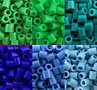 preiswerte -ca. 500 Stück / Beutel 5mm Bügelperlen Hama Perlen DIY Puzzle EVA-Material safty für Kinder (6 sortiert Farbe, B25-B33)