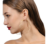 Women's Earrings Set Multi Layer Metallic Oversized Fashion Personalized Alloy Geometric Jewelry ForEvening Party Stage Going out Club