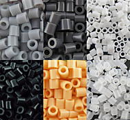 Недорогие -около 500 шт / мешок 5мм предохранителей бусины Hama бисер DIY головоломки Ева материал Сафти для детей (ассорти 6 цветов, b44-b50)