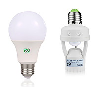 cheap -YWXLIGHT® 12W 1050-1250lm E27 LED Globe Bulbs 24 LED Beads SMD 2835 Human Body Sensor Decorative Warm White White 85-265V