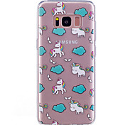 Case For Samsung Galaxy S8 S8 Plus Case Cover White Horse Pattern Painted High Penetration TPU Material IMD Process Soft Case Phone Case