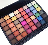 48 Color in 1 Palette, 3 Color Palette Select Paleta de Sombras de Ojos Seco Mate Brillo Paleta de sombra de ojos Polvo Maquillaje de