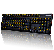 cheap -AJAZZ AJAZZ-AK52 Wired Monochromatic Backlit Blue Switches 104 Mechanical Keyboard Backlit Programmable