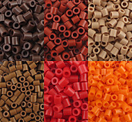 cheap -Approx 500P/Bag 5MM Fuse Beads Hama Beads DIY Jigsaw EVA