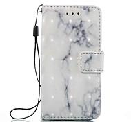 Недорогие -Чехол для Apple ipod touch 5 touch 6 чехол чехол карта держатель кошелек с подставкой флип-узор полный корпус корпус мрамор твердый кожа