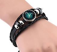 Недорогие -Муж. Жен. Кожаные браслеты Винтаж Кожа Геометрической формы Бижутерия Назначение