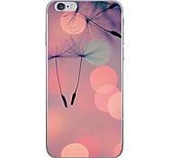 Случай для яблока iphone 7 7 плюс крышка случая одуванчика hd покрасила более толстый материал tpu мягкий случай случая телефона для