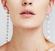 cheap -Women's Luxury / Mismatch Star Synthetic Diamond / Imitation Pearl - Luxury / Pendant / Sexy Silver Earrings For Christmas Gifts /
