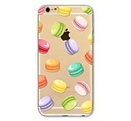 Недорогие -Кейс для Назначение Apple iPhone X iPhone 8 Plus Прозрачный С узором Кейс на заднюю панель Плитка Продукты питания Мягкий ТПУ для iPhone