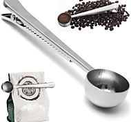 Недорогие -универсальная ложка с мешком запечатывания зажима нержавеющей измерительный инструмент кофе совок чашка земля кухня для приготовления пищи