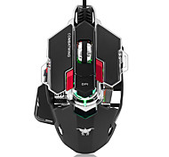 Combatwing Gaming Mouse 4800 DPI Optical USB Wired Professional Gaming Mouse Programmable 10 Buttons RGB Breathing LED Mice for Mac PC
