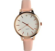 Damen Modeuhr Armbanduhr Japanisch Quartz / PU Band Bequem Elegante Minimalistisch Rosa
