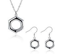 Women's Drop Earrings Pendant Necklaces Cubic Zirconia AAA Cubic Zirconia Cute Style Fashion Punk Personalized Hypoallergenic Silver