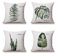 cheap -4 pcs Cotton/Linen Pillow Case, Pattern Traditional/Classic