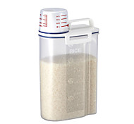 ABS Plastic Rice Storage Bin with Pour Spout 2 KG