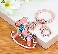 Bag / Phone / Keychain Charm Horse Rhinestone Style Cartoon Toy Korea Style Metal
