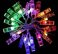 cheap -HKV® 1PCS 2M 20LED USB LED Photo Clip String Lights 20 Photo Clips Perfect for Hanging Photos Perfect for Hanging Pictures
