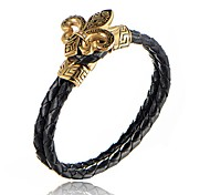 Men's Boys' Bangles Cuff Bracelet Leather Bracelet Love Fashion Vintage Punk Personalized Hip-Hop Handmade Simple Style Metallic