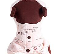 Собака Комбинезоны Одежда для собак На каждый день Листья Розовый