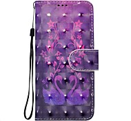 cheap -Case For Sony Xperia XZ XA1 Flower Pattern 3D PU Wallet Leather Card Holder with Hand Strap for Sony Xperia XA Ultra E5 XA