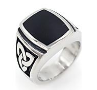 Недорогие -Муж. Кольца на вторую фалангу Классические кольца Базовый дизайн Гипоаллергенный Нержавеющая сталь В форме квадрата Бижутерия Назначение