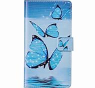 Недорогие -Case for apple iphone 7 plus 7 чехол для карточек с чехлом для карточек с подставкой с флип-патчем полный корпус с стилусом бабочка pu