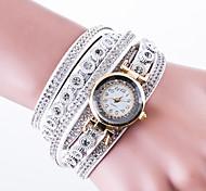 cheap -Women's Pave Watch Wrist watch Bracelet Watch Fashion Watch Chinese Quartz Leather PU Band Luxury Creative Casual Black White Blue Red