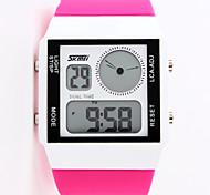 SKMEI® 0841 Fashion  Rectangle Dual Time Display LED digital jelly Electronic sport watch for unisex/men/women waterproof