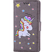Case For Huawei P10 P10 Lite Case Cover Unicorn Pattern PU Material With Strap Phone Case For Huawei P9 Lite P8 Lite P8 Lite (2017)