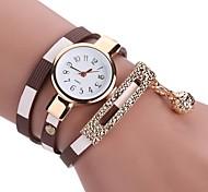 Women's Unique Creative Watch Fashion Watch Bracelet Watch Chinese Quartz Imitation Diamond PU Band Charm Casual Bohemian Elegant Black