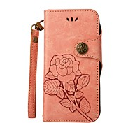 cheap -Case For Samsung Galaxy J5 (2017) J5(2016) J3(2016) Card Holder Wallet with Stand Flip Embossed Full Body Cases Flower Hard PU Leather for