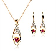 Women's Stud Earrings Pendant Necklaces Crystal Rhinestone Luxury Fashion Wedding Halloween Crystal Rhinestone Drop Necklace Earrings