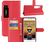 cheap -Case For Meizu Card Holder Wallet with Stand Flip Full Body Cases Solid Color Hard PU Leather for Meizu Pro 7 Meizu Pro 7 Plus