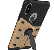 cheap -Case For Apple iPhone X iPhone 8 iPhone 8 Plus iPhone 7 Shockproof with Stand 360° Rotation Back Cover Armor Hard PC for iPhone X iPhone