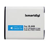 ismartdigi li90b 3.7v 1270mah для аккумулятора olympus li-90b xz-2 1 tg-4 tg4 tg2 tg3 sp100