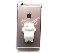 For iPhone X iPhone 8 iPhone 8 Plus iPhone 7 iPhone 7 Plus Case Cover Transparent Pattern DIY Squishy Back Cover Case Cat 3D Cartoon Soft