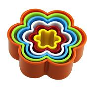 форма формы формы 5pcs формы выпечки прессформы формы прессформы торта, инструмент выпечки