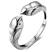 Women's Knuckle Ring Nail Finger Rings Animal Design Sterling Silver Bird Jewelry For Graduation New Year
