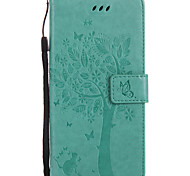 cheap -For Case Cover Card Holder Wallet with Stand Flip Embossed Pattern Full Body Case Cat Hard PU Leather for Sony Sony Xperia XZ Sony Xperia