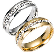 cheap -Men's Women's Band Ring Gold Silver Stainless Steel Others Fashion Daily Costume Jewelry